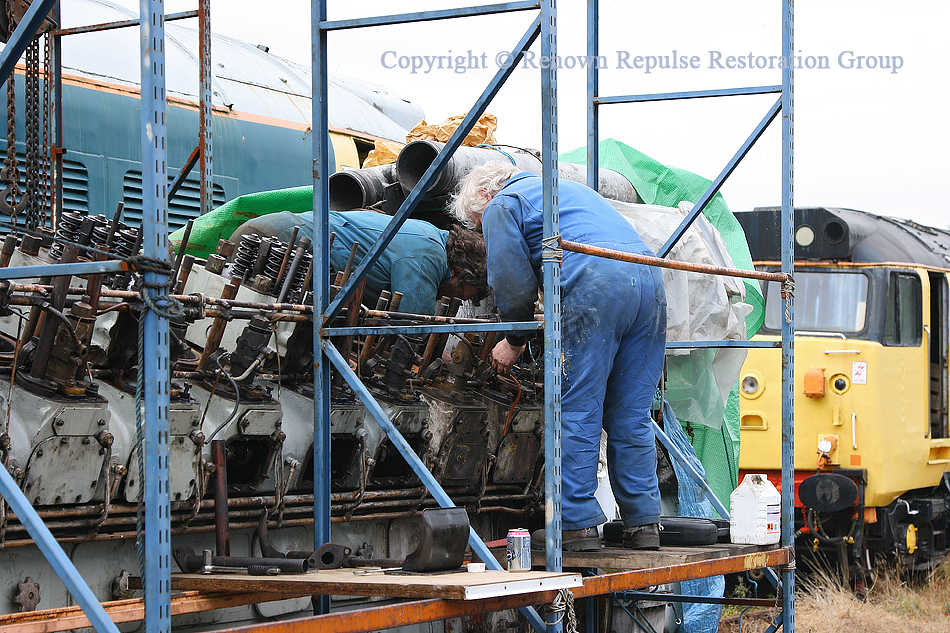 Work on the ex-50008 power unit in October 2009