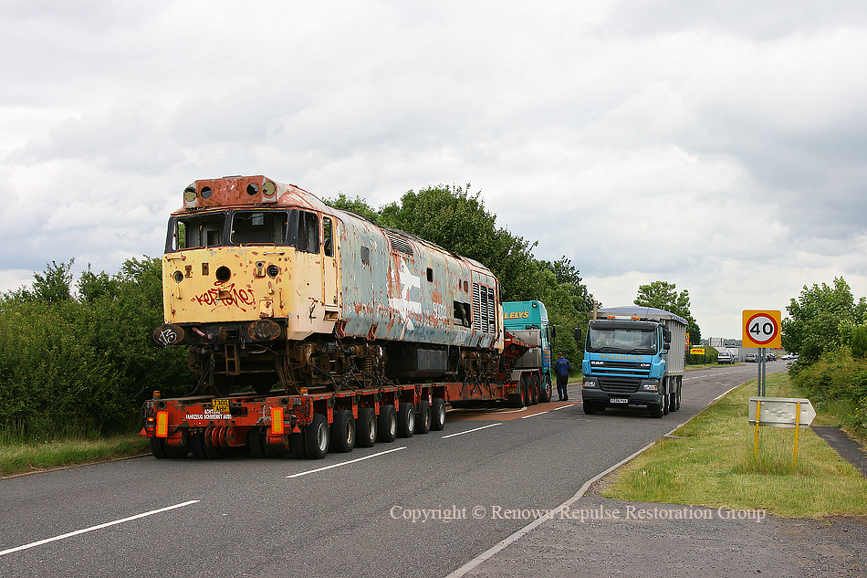50040 waiting for an escort vehicle