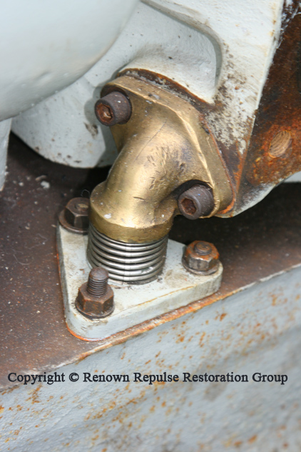 Water jacket elbow joints refitted to sapre power unit.