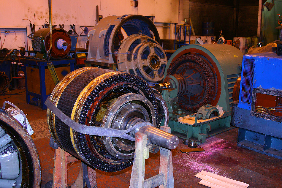 ETH generator armature at Bowers