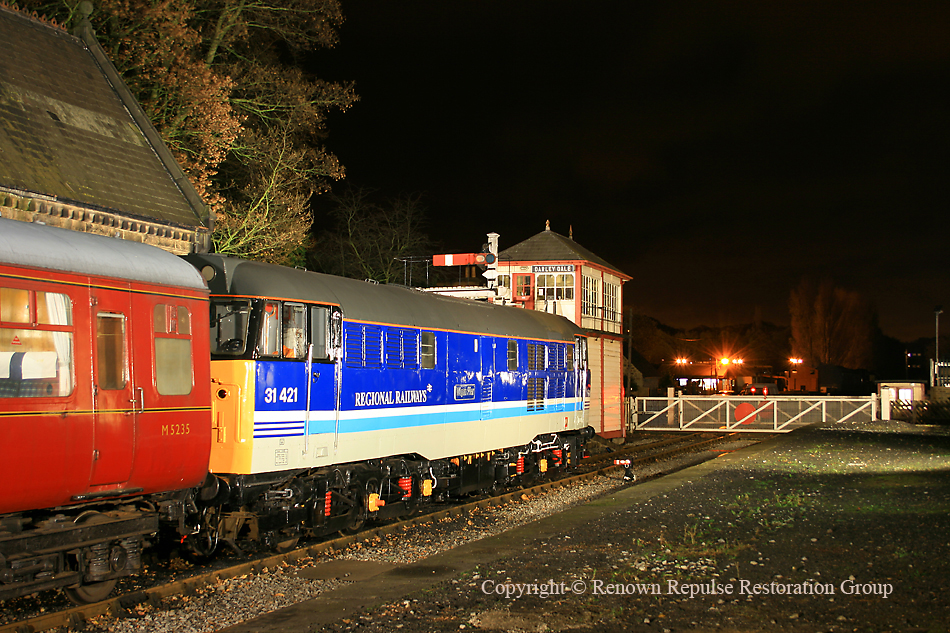 31270 waits at Darley Dale