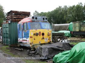 50037 cab in its new home at Rowsley