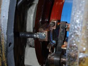 A further close up of traction motor blower brush gear