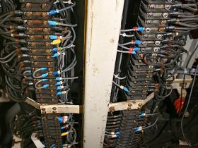 Terminal bars in 50030 being wired up