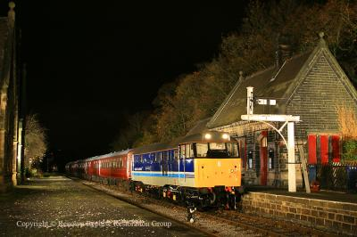 31270 (as 31421) at Darley Dale during the EMRPS night shoot