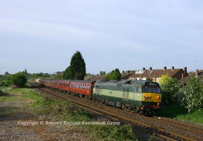 50044 heading towards Leamington Spa