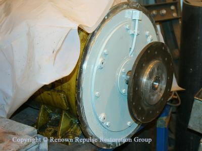 Traction motor blower being refurbished at Bowers April 2010