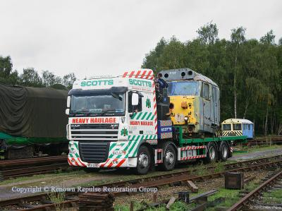 50037 Illustrious cab arrives at Rowsley