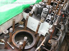 Refurbished cylinder head refitted to ex-50008 power unit