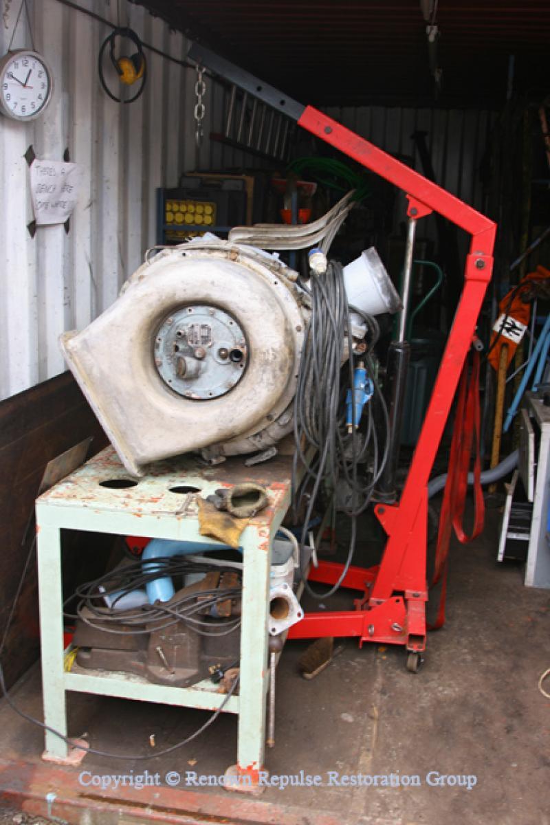 Turbocharger undergoing overhaul