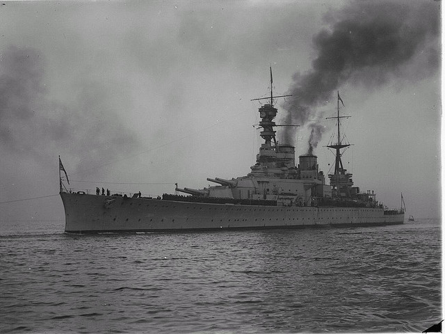 HMS Renown bringing HRH Prince of Wales to Melbourne in May 1920